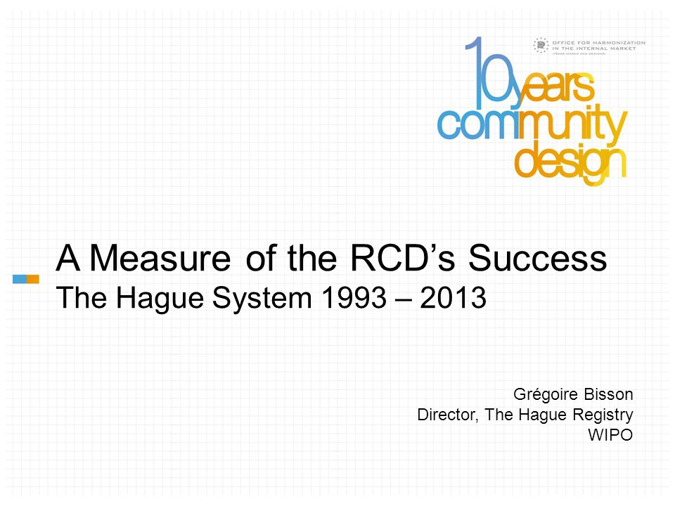 RCD EU expands 1999 Act comes into effect Evolution of Membership to The Hague vs.