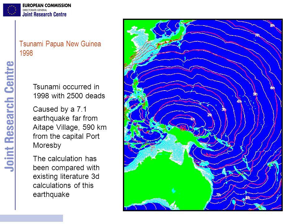 Comparison of MIST calculation with the JRC Tsunami Model