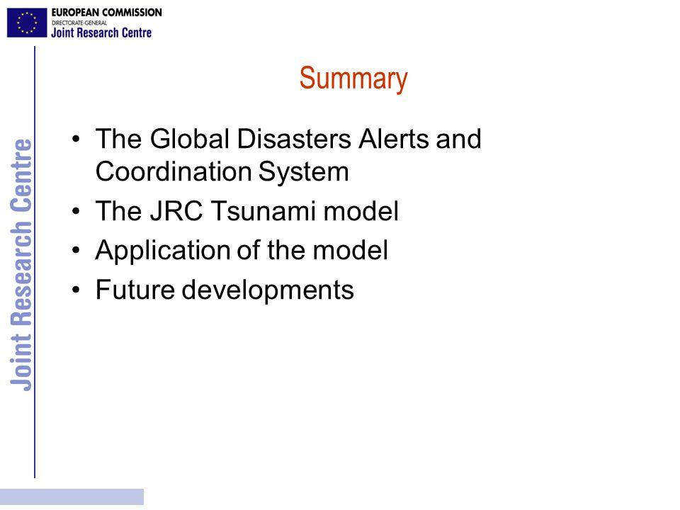 The JRC Tsunami Model A.