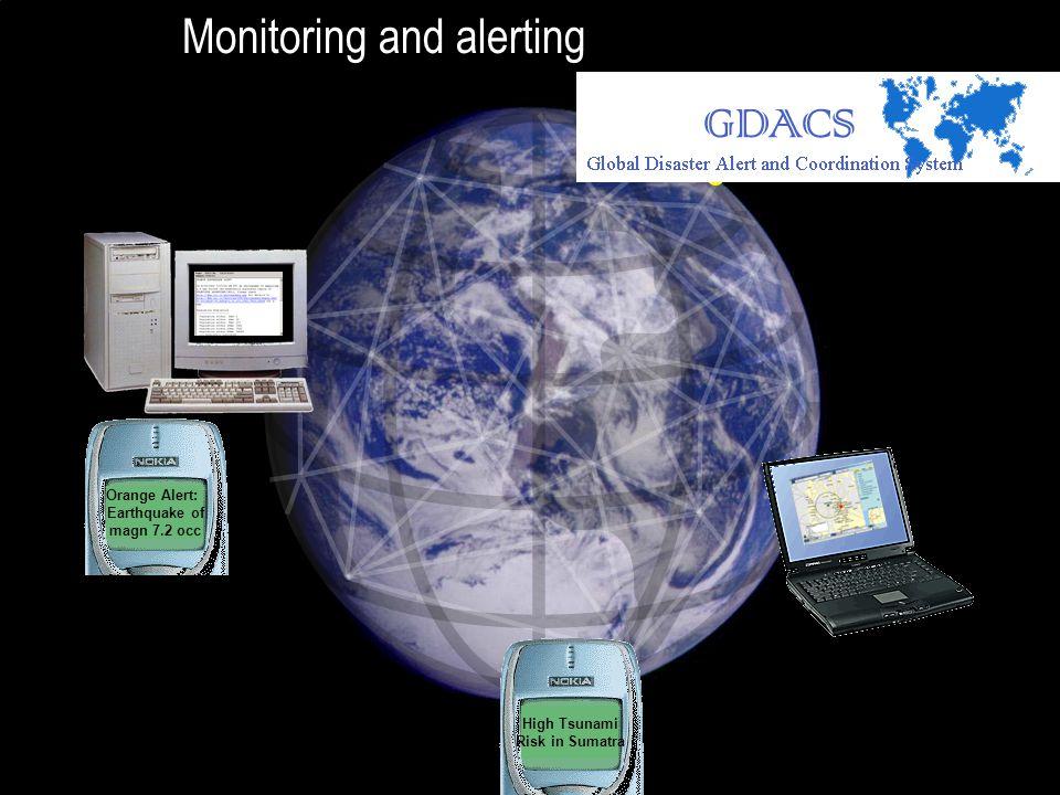 High Tsunami Risk in Sumatra Orange Alert: Earthquake of magn 7.2 occ Monitoring and alerting