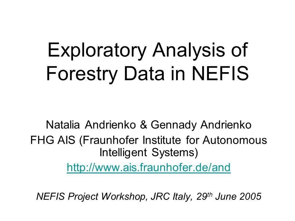 Further information Software: http://www.commongis.comhttp://www.commongis.com Scientific issues (papers, tutorials, demos): http://www.ais.fraunhofer.de/andhttp://www.ais.fraunhofer.de/and Book to appear: N.