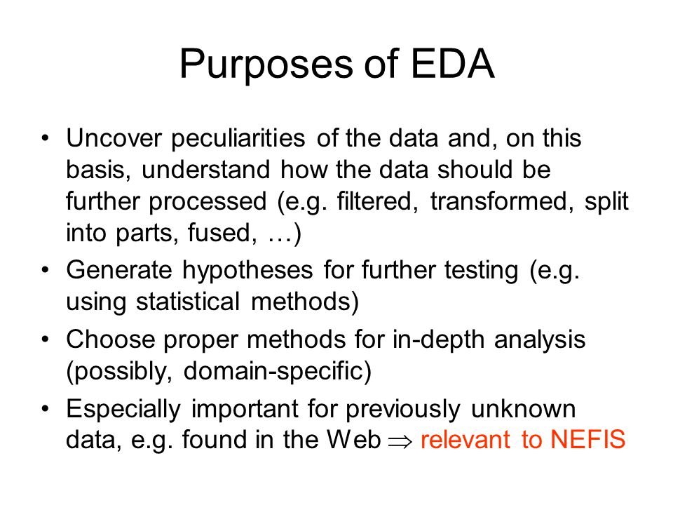 EDA vs.