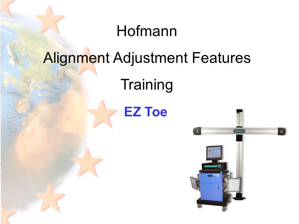 Hofmann Alignment Adjustment Features Training EZ Toe