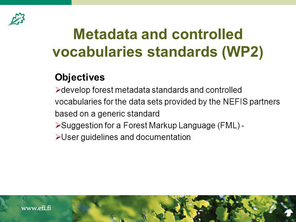 20.8.200410 NEFIS Metadata schema based on DCMI metadata element set. NEFIS modifications ( )