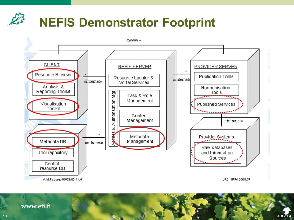 20.8.200413 NEFIS Demonstrator Footprint