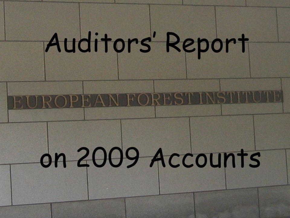 Auditors' Report on 2009 Accounts