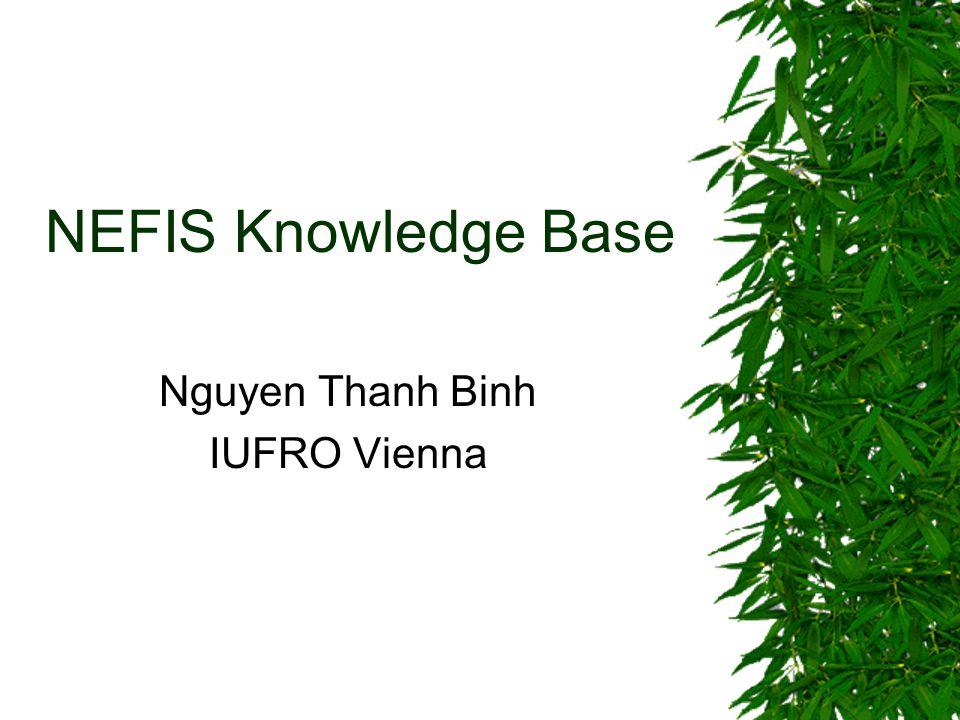 NEFIS Knowledge Base Nguyen Thanh Binh IUFRO Vienna
