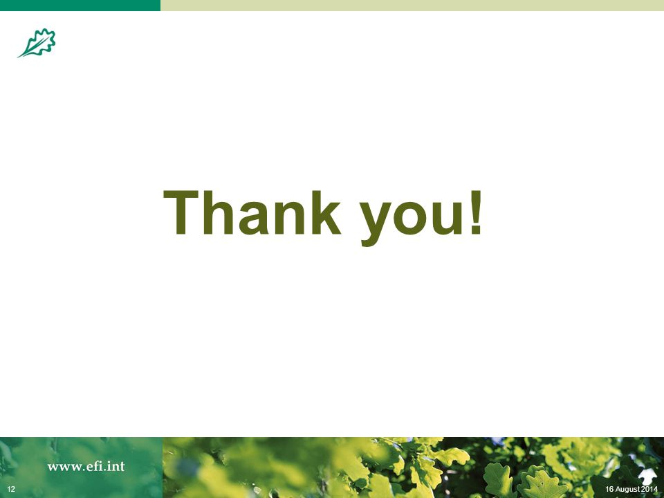 16 August 201412 Thank you!