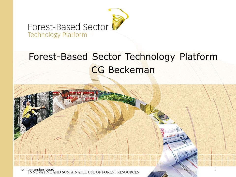 12 September Forest-Based Sector Technology Platform CG Beckeman