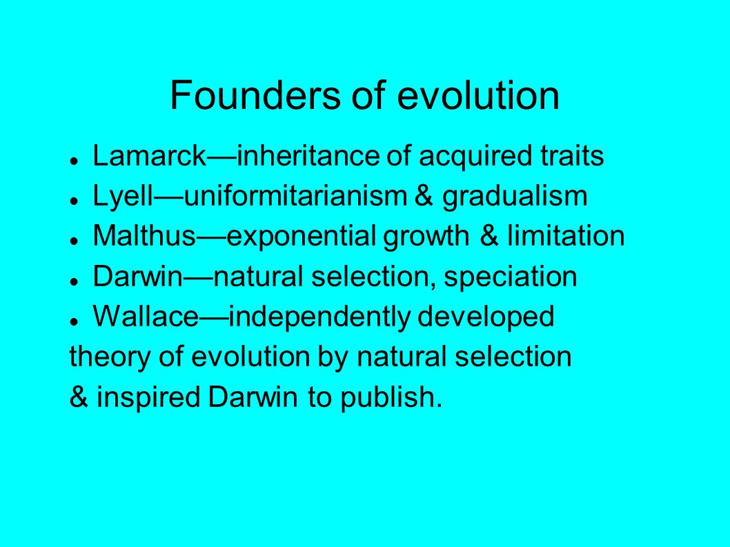 Darwin s theory of evolution Change Common descent Speciation Gradualism Natural selection