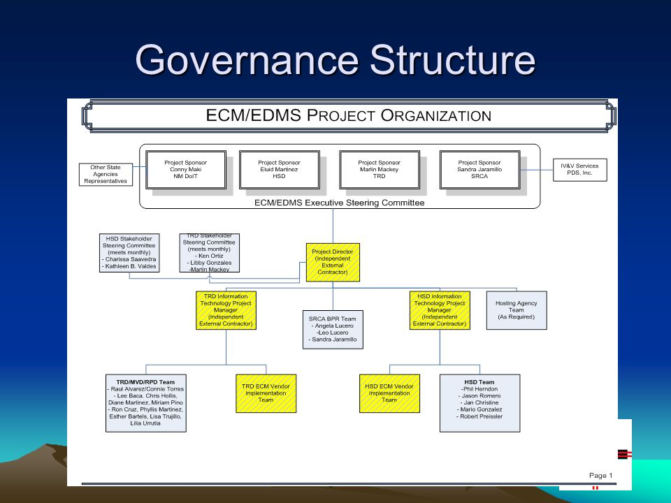 6 Governance Structure