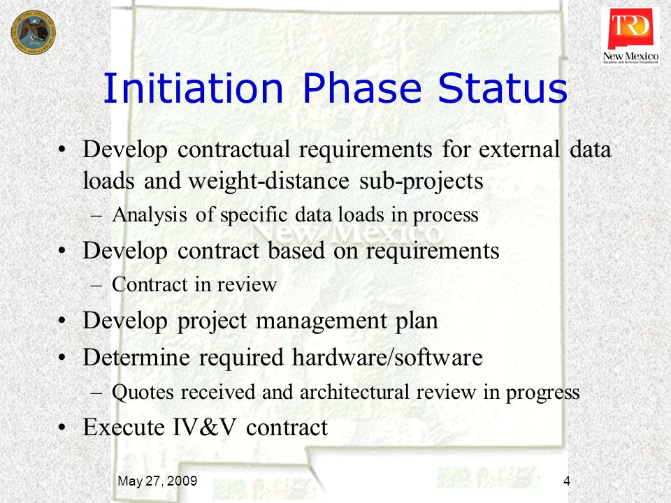 Implementation Phase Deliverables Procure and configure required hardware/software Execute Vendor contract Execute Proposed Solution May 27, 2009 5