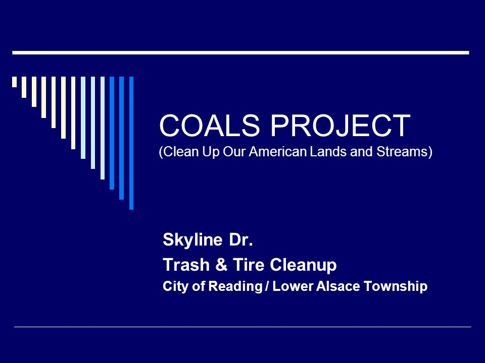 COALS PROJECT (Clean Up Our American Lands and Streams) Skyline Dr.