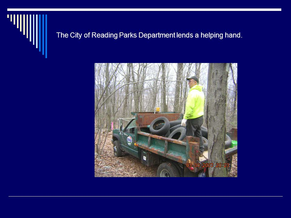 The City of Reading Parks Department lends a helping hand.