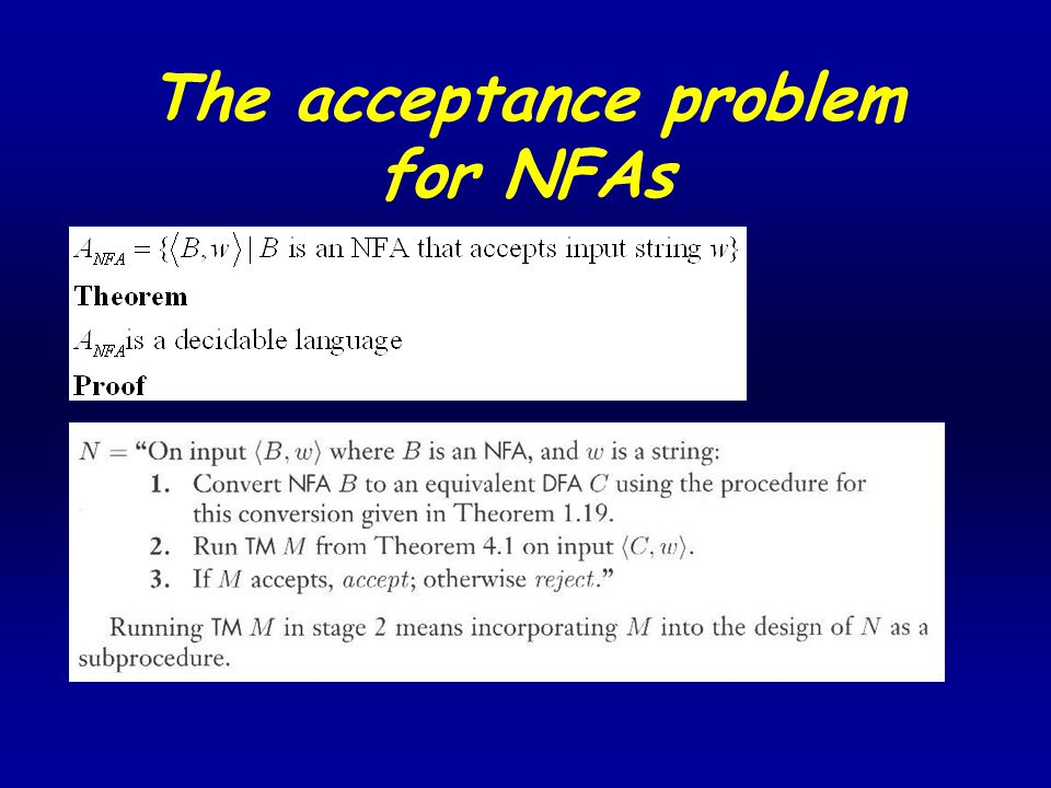The acceptance problem for NFAs