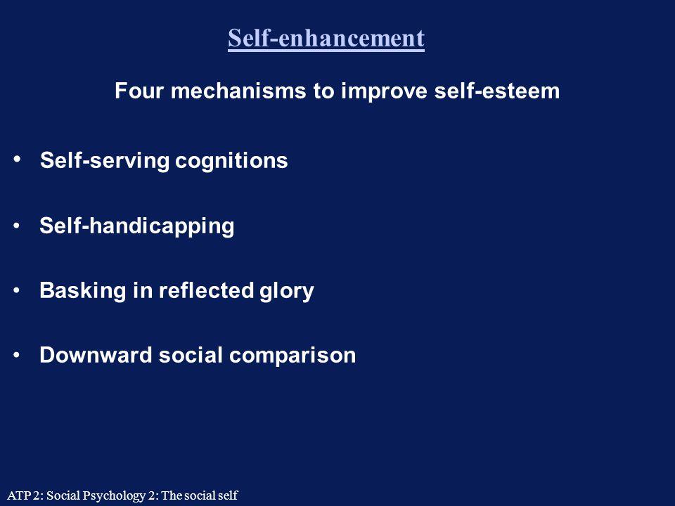 ATP 2: Social Psychology 2: The social self How self-esteem affects us High self-esteem has all sorts of benefits.