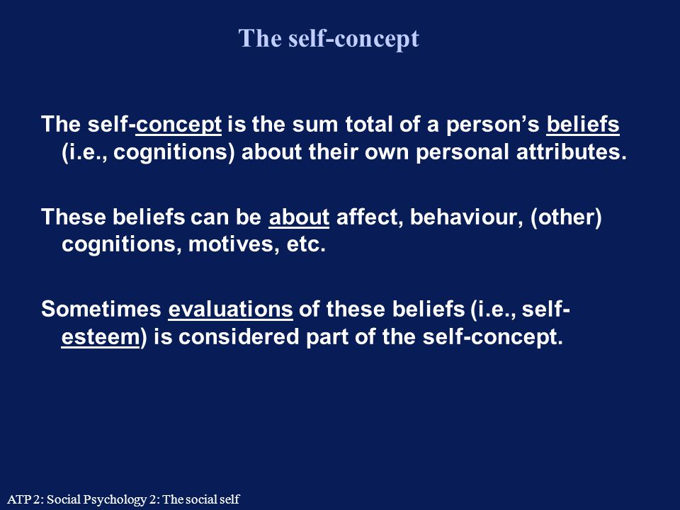 ATP 2: Social Psychology 2: The social self Lecture contents Introspection  How useful are self-reports.