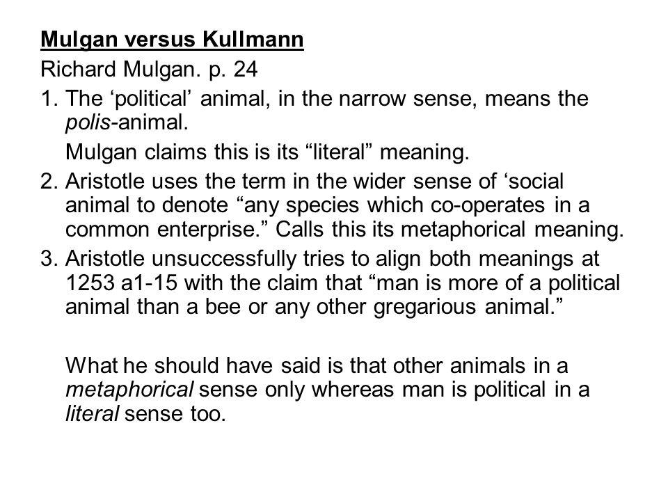 Mulgan versus Kullmann Richard Mulgan. p.