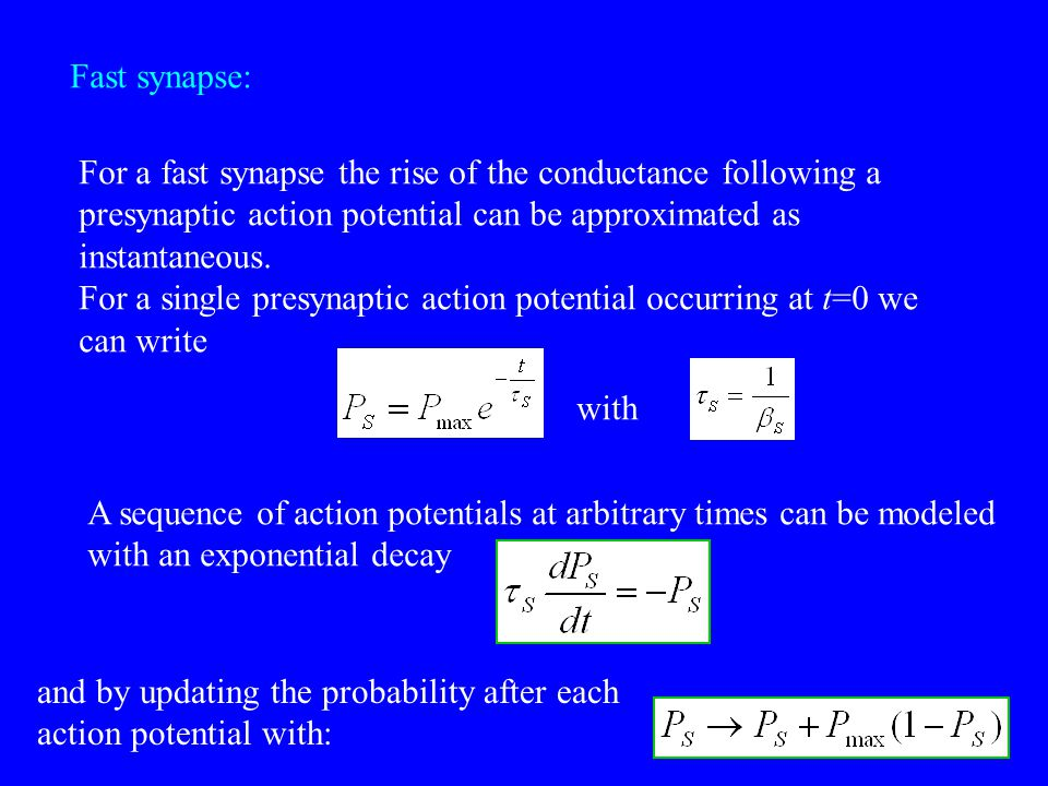 Piecewise approximation: For constant I: update