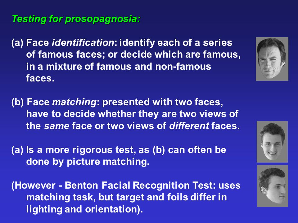 Duchaine and Weidenfield (2003): WRMF can be performed on basis of non-facial cues.