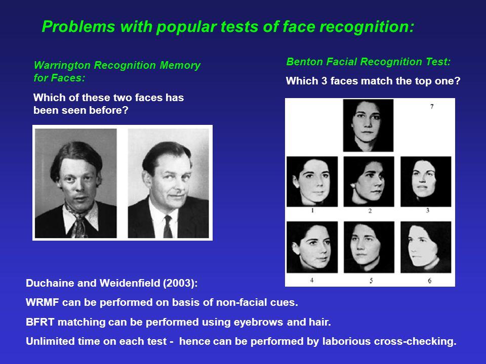 Avidan, Tanzer and Behrmann (2011) Avidan, Tanzer and Behrmann (2011): 14 congenital prosopagnosics.