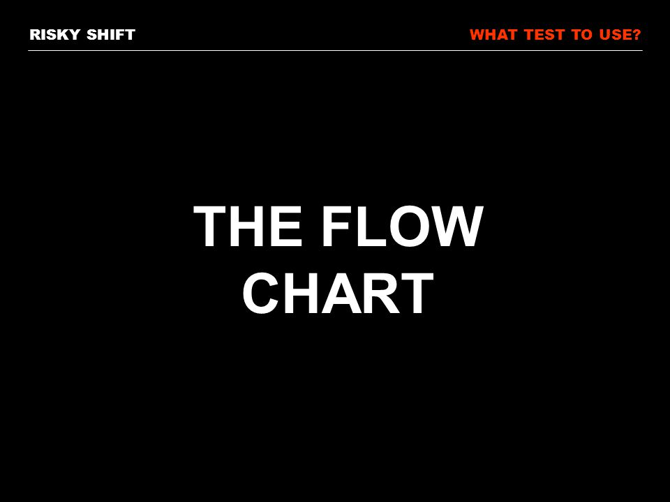 RISKY SHIFTWHAT TEST TO USE THE FLOW CHART