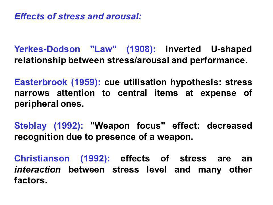 Peters (1988): Effects of stress on face recognition.