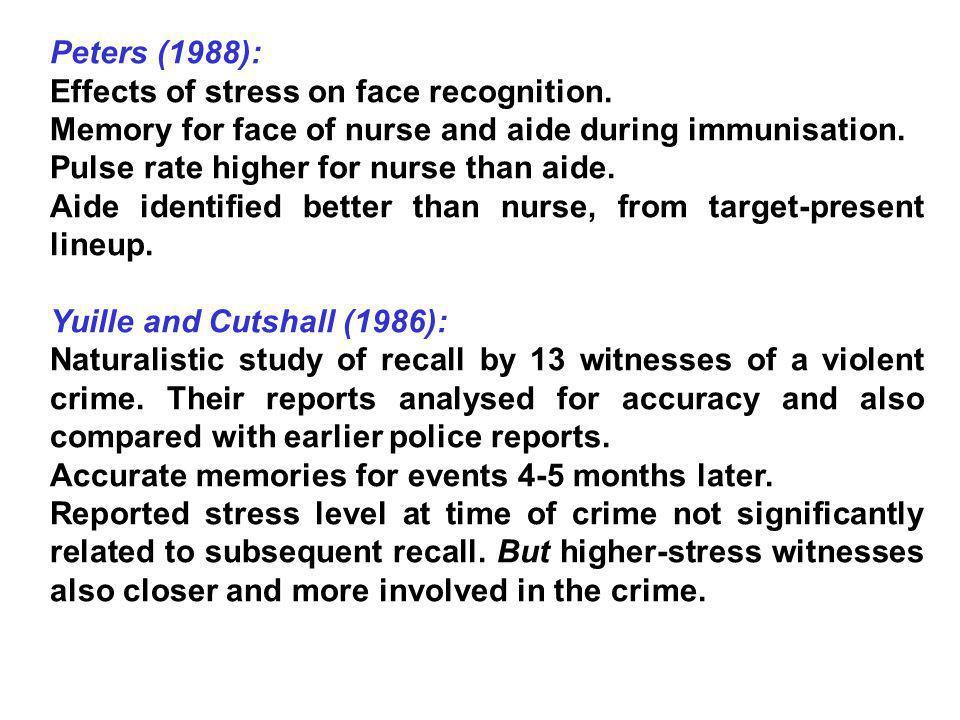 Sporer (2001b): 5 factors influence identifying an other-race face: 1.