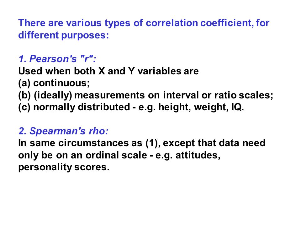 r is a parametric test: the data have to have certain characteristics (parameters) before it can be used.