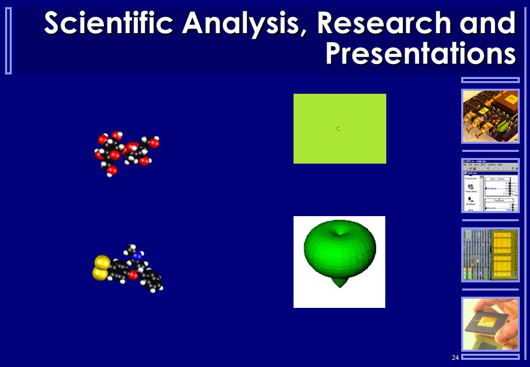 24 Scientific Analysis, Research and Presentations
