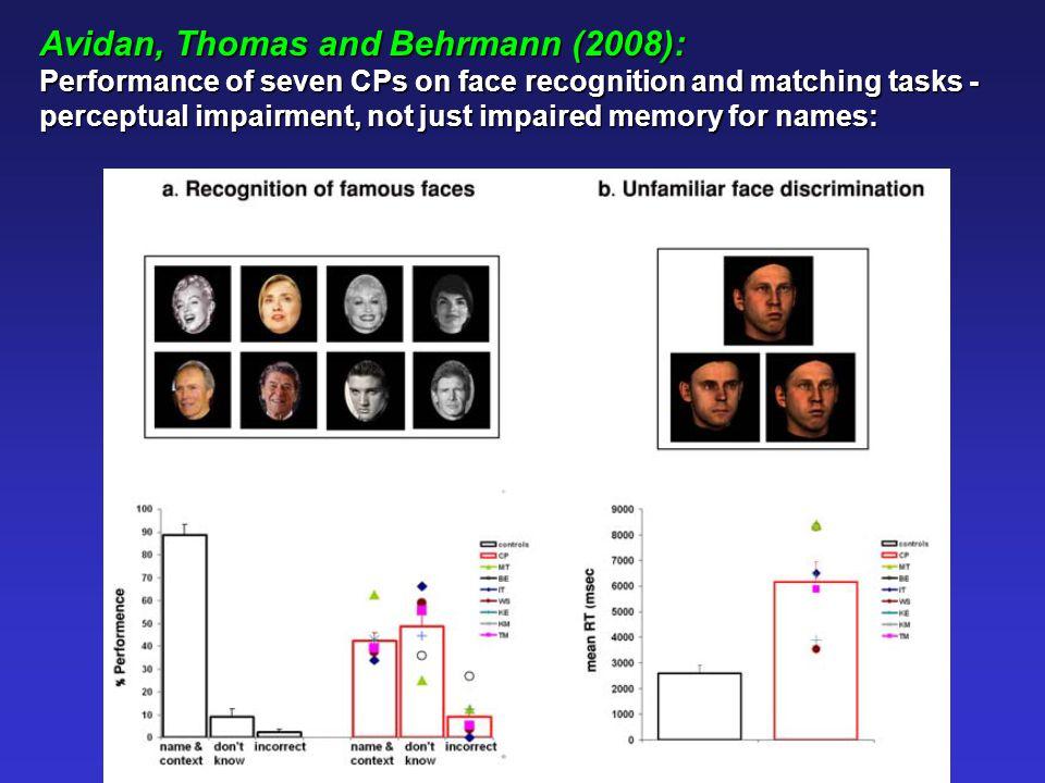 Jones and Tranel (2001): TA: 5 year old associative congenital prospagnosic.