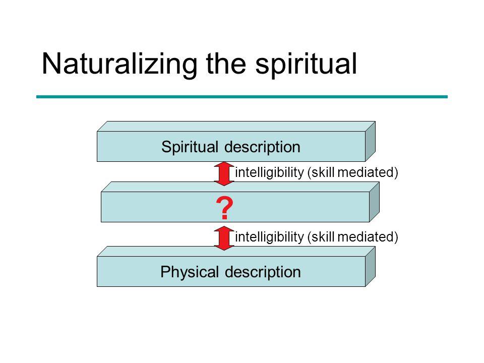 Naturalizing the spiritual Spiritual description Physical description .