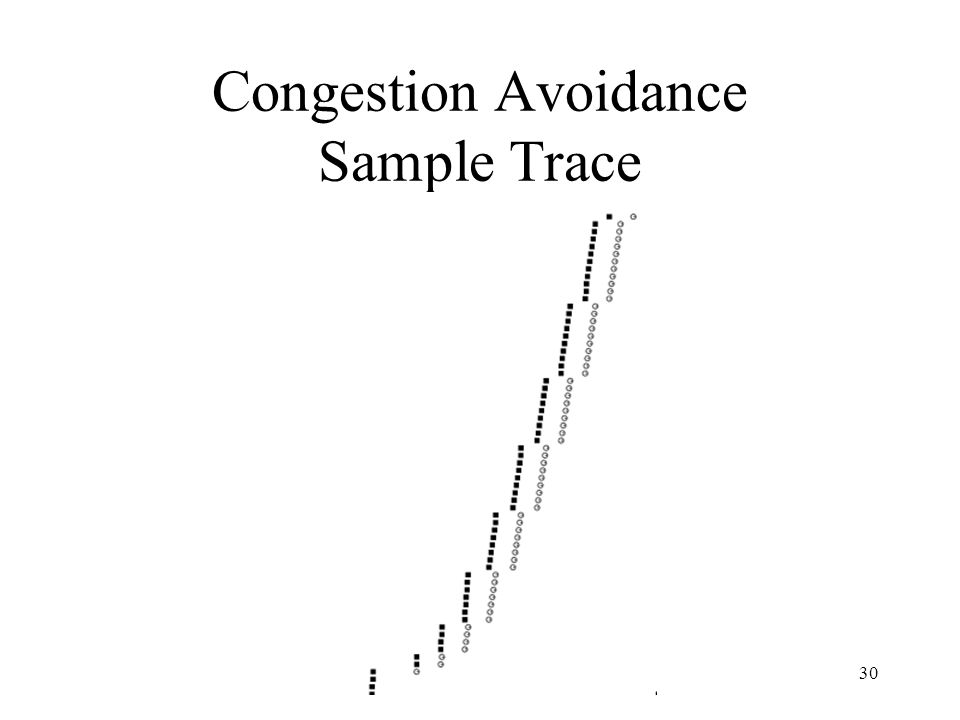30 Congestion Avoidance Sample Trace