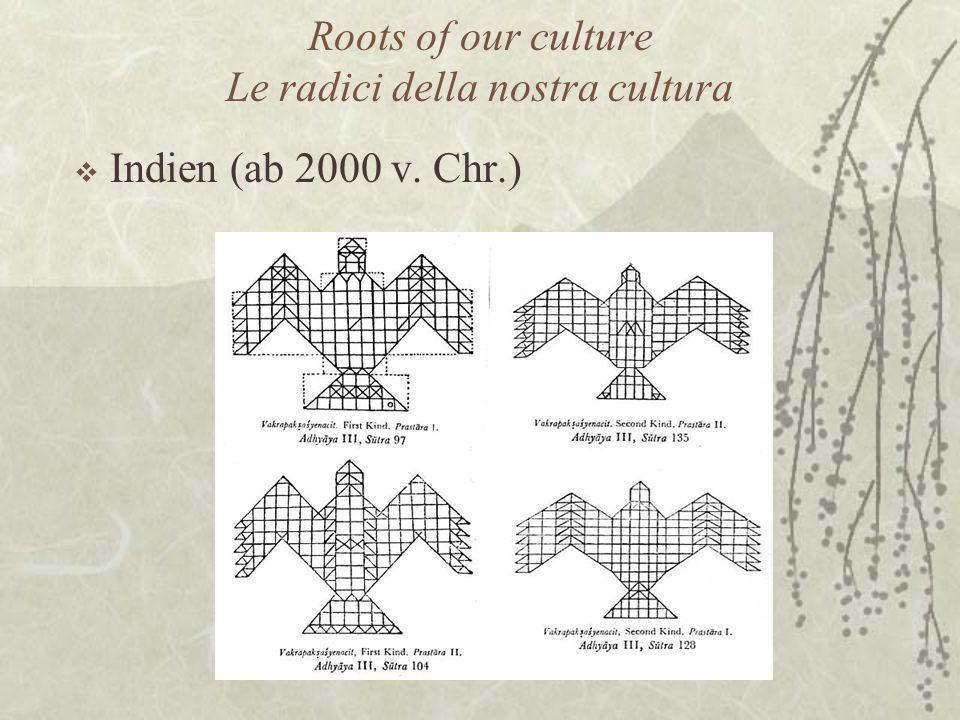 Roots of our culture Le radici della nostra cultura  Indien (ab 2000 v. Chr.)
