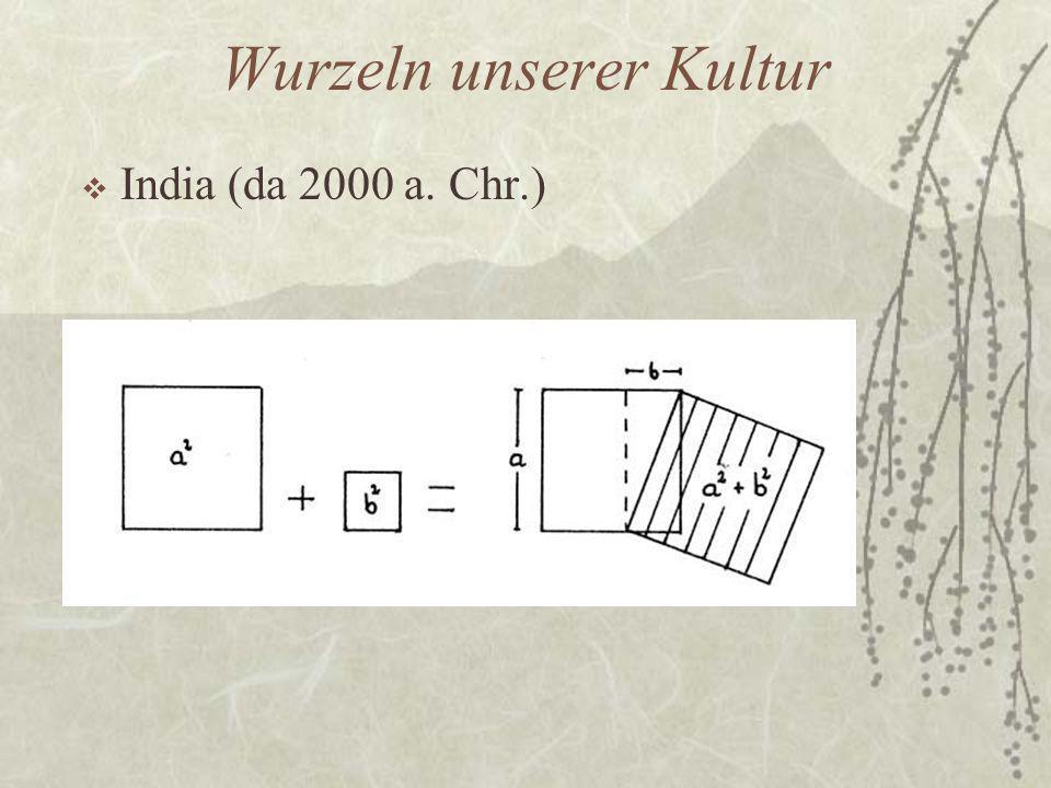 Wurzeln unserer Kultur  India (da 2000 a. Chr.)