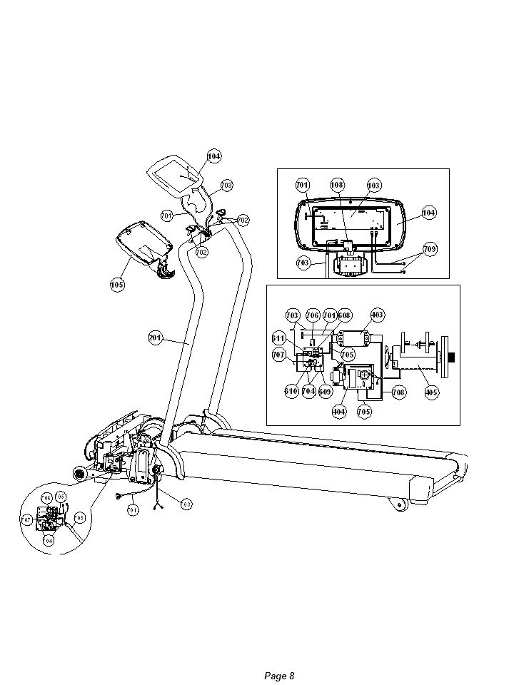 Remove run desk and run belt Step 1: Follow Remove the motor cover instruction to open motor cover.
