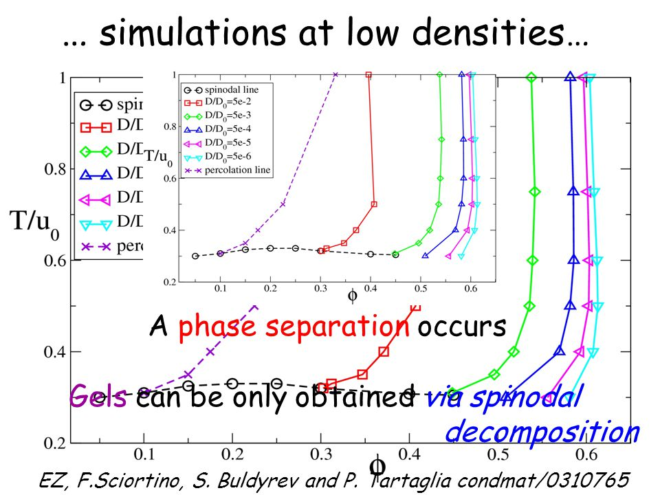 N=1 N=2 F.Sciortino, S. Mossa, EZ, P. Tartaglia, condmat/0312161; PRL in press.