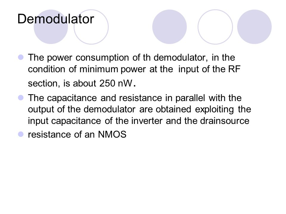 Conclusions Post-layout simulations show that a voltage supply of 0.6 V is generated with a PSRR larger than -50 dB, at the critical frequencies, and with an AC/DC power efficiency larger than 20%.