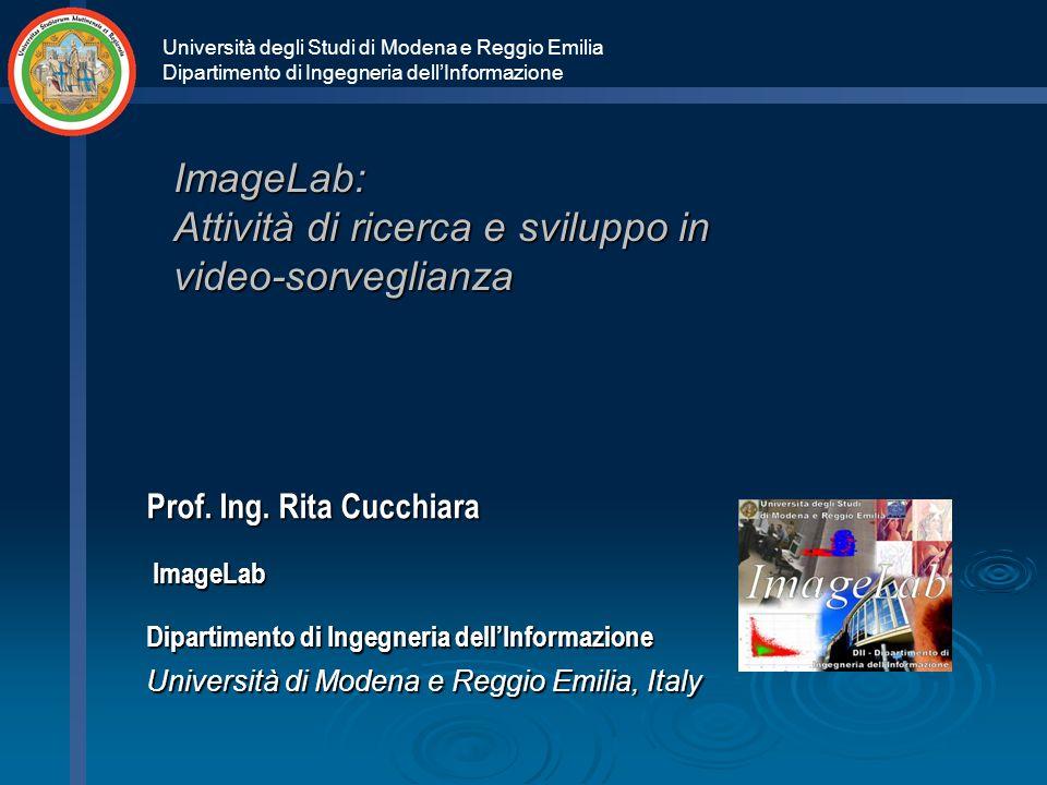 Università degli Studi di Modena e Reggio Emilia Dipartimento di Ingegneria dell'Informazione ImageLab: Attività di ricerca e sviluppo in video-sorveglianza Prof.