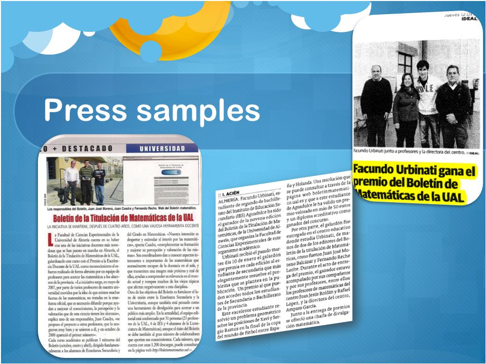 Press samples