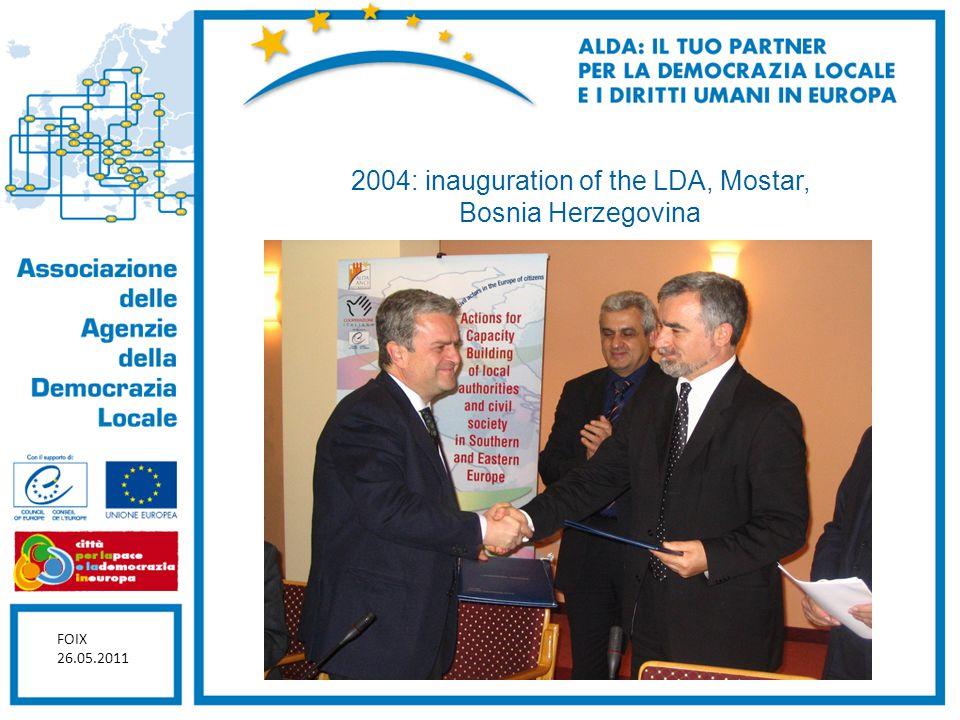 2004: inauguration of the LDA, Mostar, Bosnia Herzegovina FOIX 26.05.2011