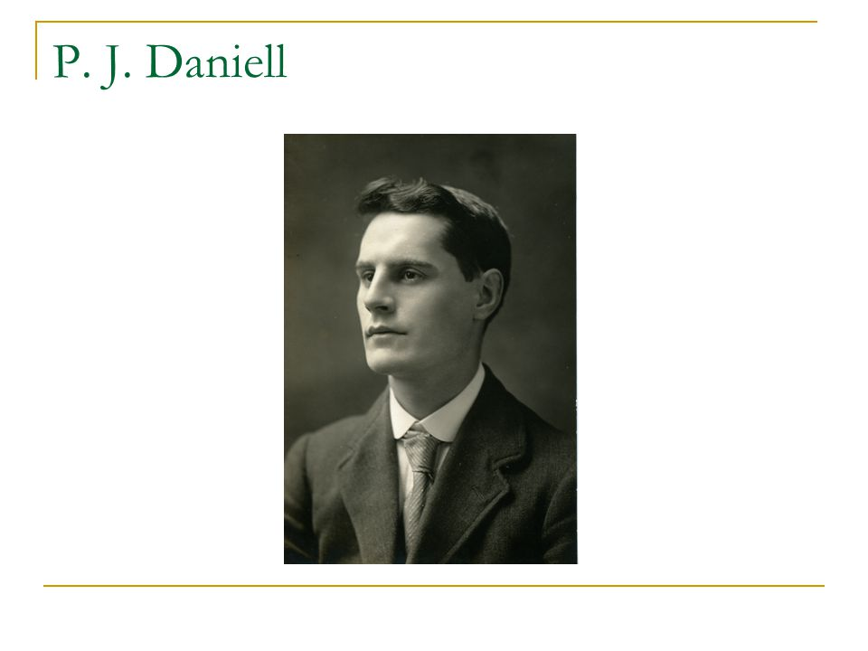 Being a prof in England: Daniell to Wiener 1922 I wrote to them [London university] my opinion of your suitability for the position and it was partly praise and partly otherwise.