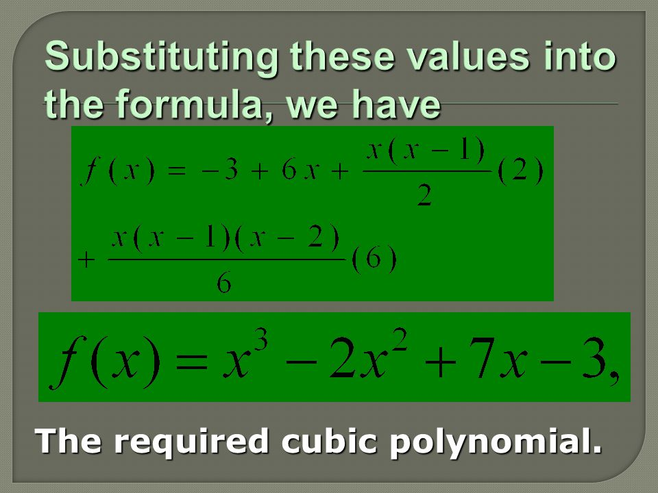 The required cubic polynomial.