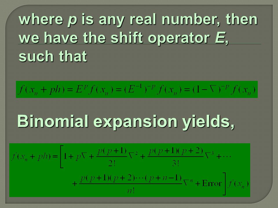 Binomial expansion yields,