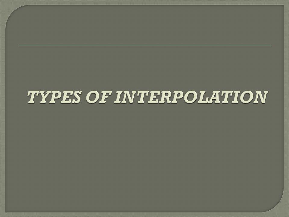1.Finite Difference Operators 2.Newton's Forward Difference Interpolation Formula 3.Newton's Backward Difference Interpolation Formula 4.Lagrange's Interpolation Formula