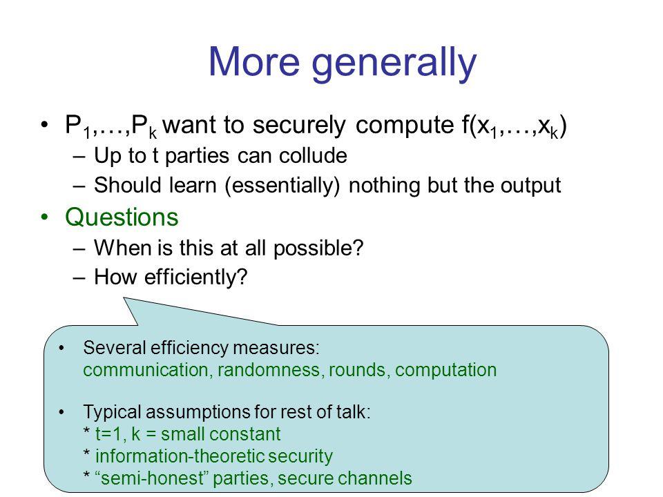 xixi .database x ∈ {0,1} n Information- Theoretic vs.