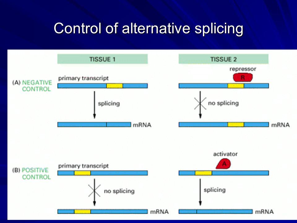 Control of alternative splicing