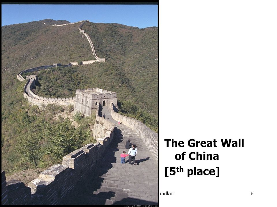 July 10, 2007Compiled by Gurudutt Mundkur6 The Great Wall of China [5 th place]