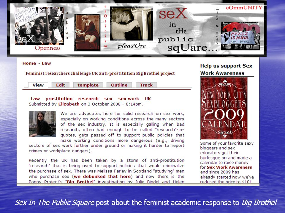 Sex In The Public Square post about the feminist academic response to Big Brothel
