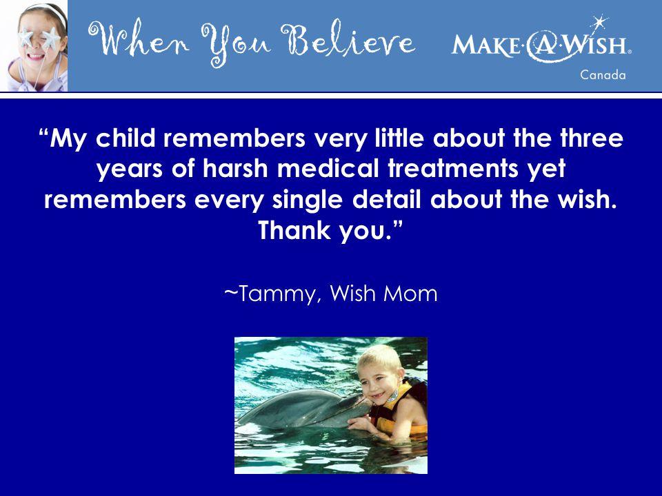 When You Believe I wish to meet Tony Stewart! Britney (age 5) New Brunswick